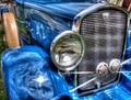 HDR Vintage Blue Car