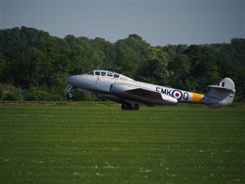 Gloster Meteor at Duxford Airshow