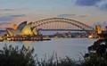 Harbour Bridge Sunset w
