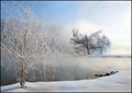 Ice Fog On The Lake