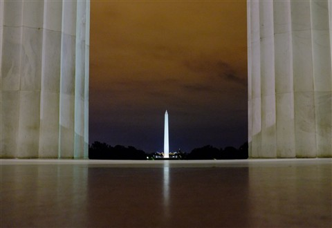 Washington Monument from Lincoln Memorial ver 3