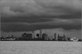 Stormy day over New Brighton Liverpool U K