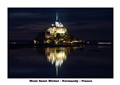 Mont St Michel on a summer's night