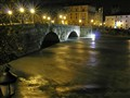 Tevere in Flood at Ponte Cestio