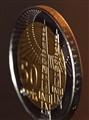 Azeri coin depicting oli towers