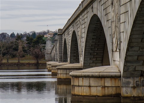 Lee House and Arlington Memorial Bridge