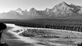 View on Athabasca River and Mount Kerkeslin