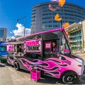 Pink Tank food truck - shootin' flames