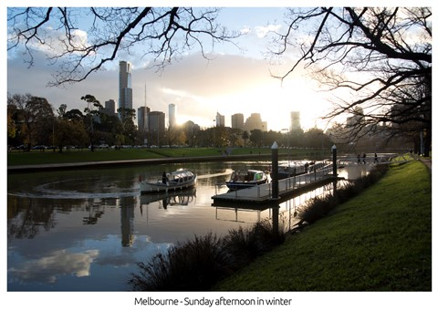 Melbourne Sunday afternoon