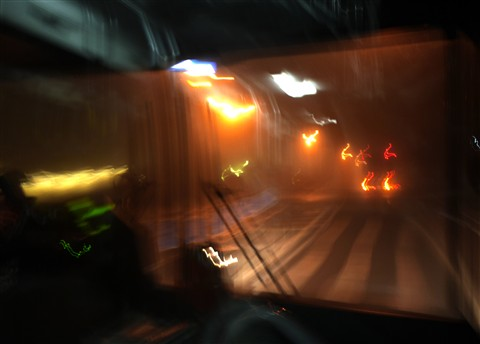Bus in the night