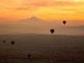 Warm Pastel Shades of Sunrise from a Hot Air Balloon