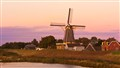 Rhine Windmill at Dusk-2