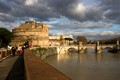 Castello di Angelo in Rome in the evening light in October