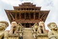 Nyatapol Durga Temple in historic Bhaktapur, Kathmandu Valley, Nepal. The name means temple with five floor. This temple opens only one day in a year. Five stories makes it one of the tallest temples in the valley and it is built on high pedestal. Someplace to look up to !