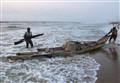 Fishers at Marina Beach. Tamil Nadu. India