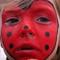 Sweden, Thea's ladybug face paint