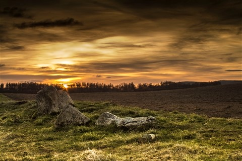 Stones by Ploughed Field Edit