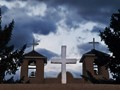 The crosses on the San Francisco De Asis Church  at Rancho DeTaos