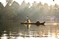 Morning mist backwaters, Kerala
