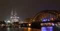 Cathedral of Cologne and railway brigde