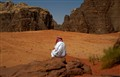 In the desert of wadi rum -Jordan