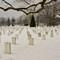 Arlington cemetery snow