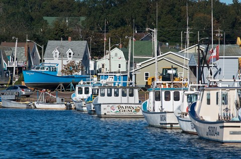 Fishing village in PEI, Canada