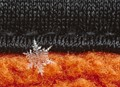 snowflake on woolen hat