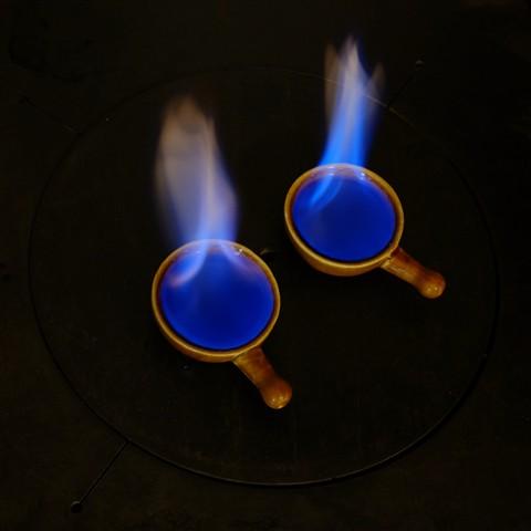 blue flame, tripod #3