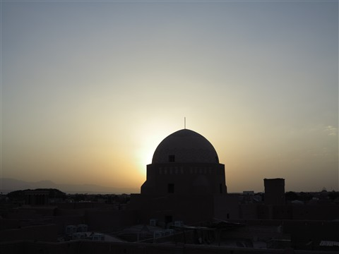 Traditional Old Town Roofs Roofscape Dach Dächer Yazd Iran