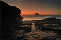 Trebarwith Strand Glow By Lea Tippett