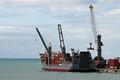 Cargo Ship in The Caribbean