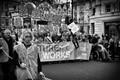 Trade union protesters