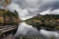 Anoach Dubh from Torran Loch, Glencoe