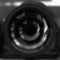 Self portrait on lens