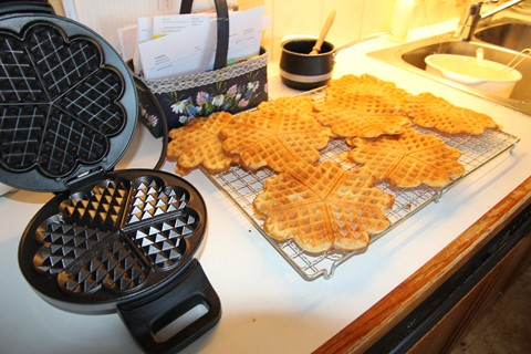 My first batch of Waffles.