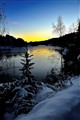 River winter sunset