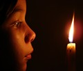 Girl and candle