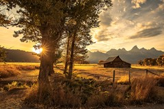 Sunset in The Grand Tetons