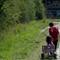 Boy Pulling Girl in Cart