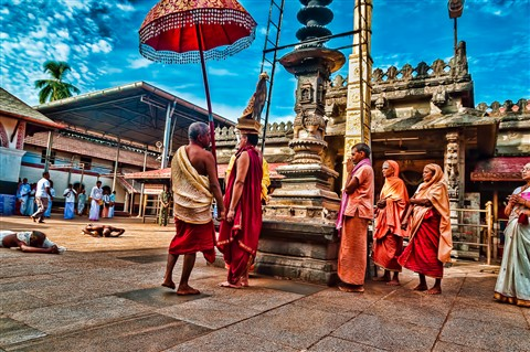Morning Prayer Procession at Sri Kollur Mookambika Temple