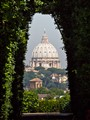 Keyhole view of the Vatican
