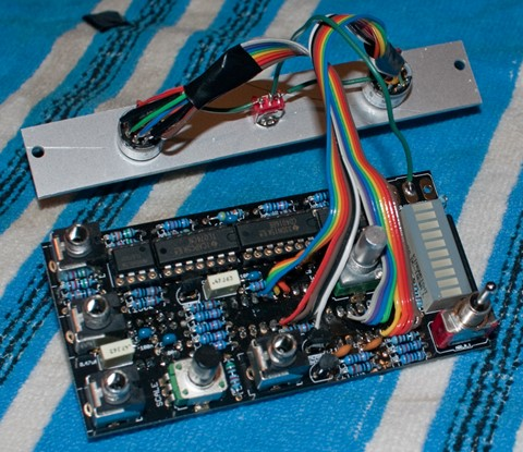 Rear view of circuit board