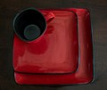 Square Plates with Cup