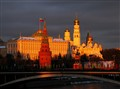 The Moscow Kremlin in the last sunlight