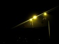 Street light on highway