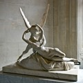 Sculpture by Antonio Canova (1757-1822) In the Louvre, the lighting came from the sun through a window.