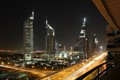 The Sheikh Zayed Road & Emirates Tower at Night