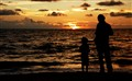 With my father at Sunset