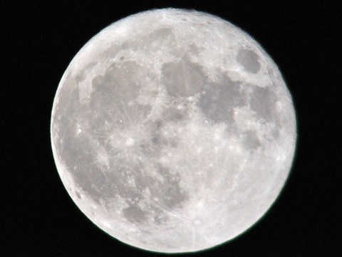 Supermoon at 1-12amEST